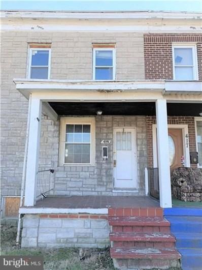 419 Maude Avenue, Baltimore, MD 21225 - MLS#: 1000263108