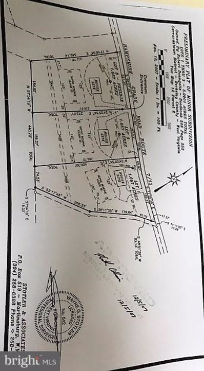 Hampshire Grade Road, Hedgesville, WV 25427 - MLS#: 1000284418