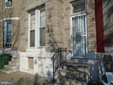 1608 Wilkens Avenue, Baltimore, MD 21223 - MLS#: 1000296168