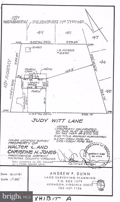 8350 Judy Witt Lane, Vienna, VA 22182 - #: 1000306606