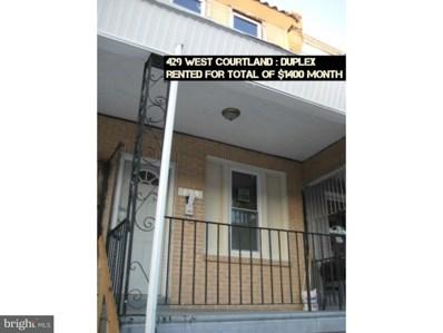 429 W Courtland Street, Philadelphia, PA 19140 - MLS#: 1000417618