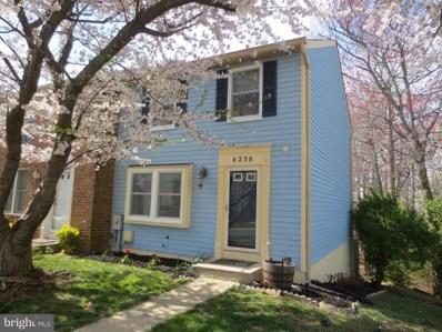 4238 Dunwood Terrace, Burtonsville, MD 20866 - MLS#: 1000430880