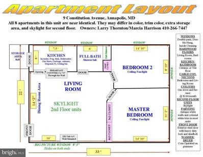 9 Constitution Avenue UNIT 4A, Annapolis, MD 21401 - MLS#: 1000478134