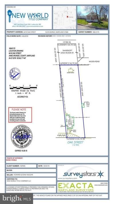 6418 Oak Street, Glen Burnie, MD 21060 - MLS#: 1001188950