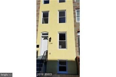 1144 Lombard Street W, Baltimore, MD 21223 - MLS#: 1001819548