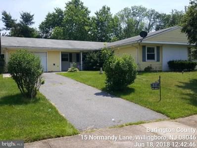 15 Normandy Lane, Willingboro, NJ 08046 - MLS#: 1001909874