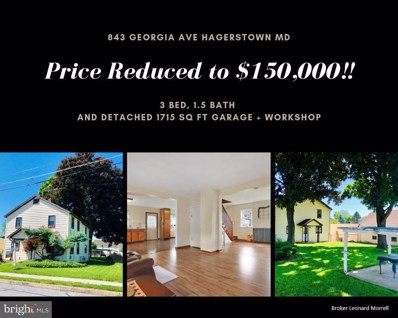 843 Georgia Avenue, Hagerstown, MD 21740 - MLS#: 1001980590