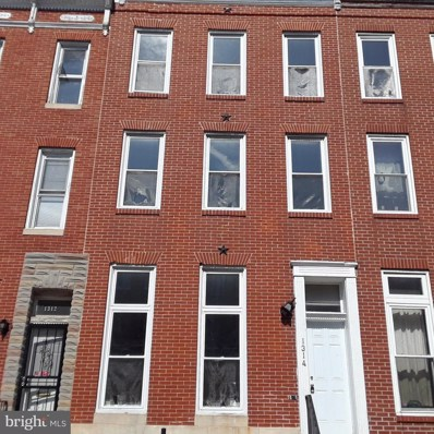 1314 Carey Street, Baltimore, MD 21217 - #: 1002002514