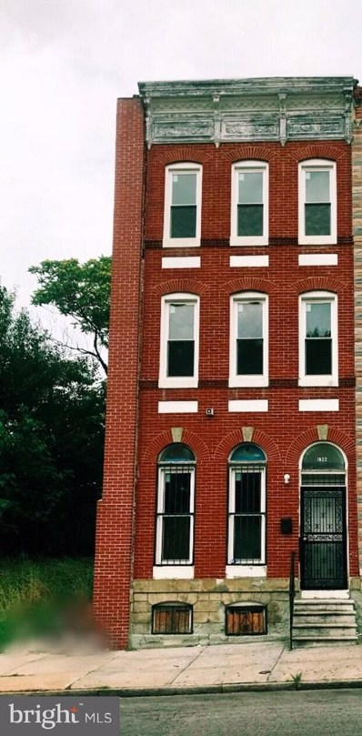 1822 Edmondson Avenue, Baltimore, MD 21223 - MLS#: 1002048430