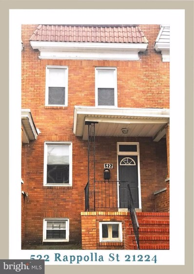 522 Rappolla Street, Baltimore, MD 21224 - #: 1002056828