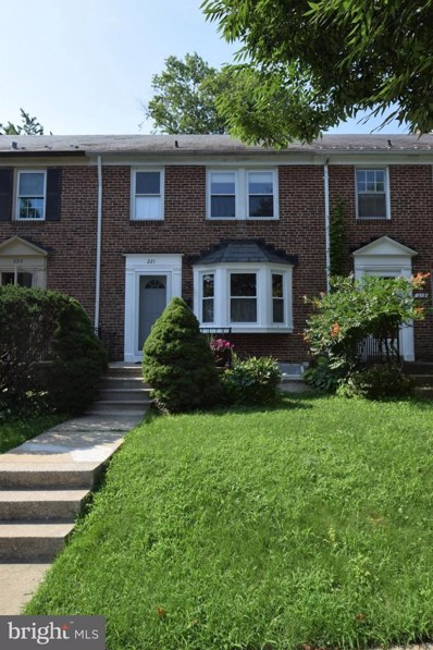 221 Overbrook Road, Baltimore, MD 21212 - MLS#: 1002290088