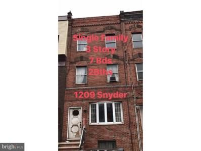1209 Snyder Avenue, Philadelphia, PA 19148 - MLS#: 1004256081
