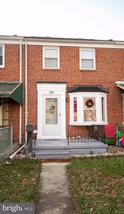 933 Middlesex Road, Baltimore, MD 21221 - MLS#: 1004344279