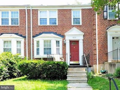 322 Stanmore Road, Baltimore, MD 21212 - MLS#: 1005932459
