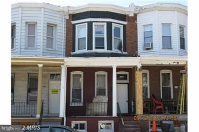 1706 Poplar Grove Street, Baltimore, MD 21216 - #: 1007283684