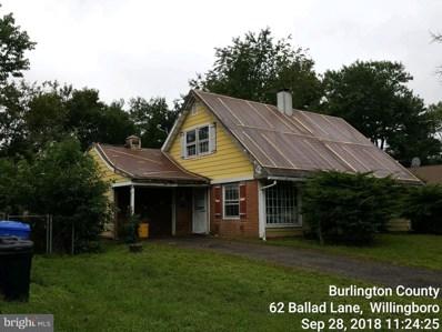 62 Ballad Lane, Willingboro, NJ 08046 - MLS#: 1007544104