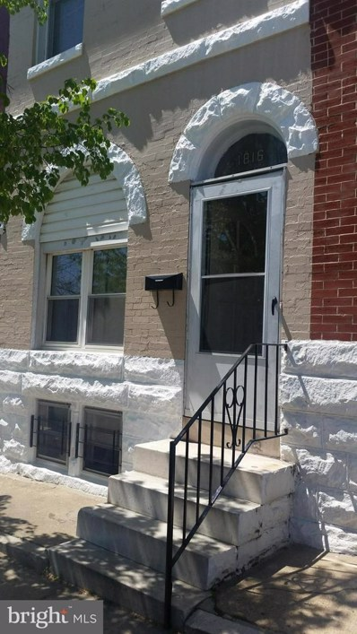 1816 Rutland Avenue, Baltimore, MD 21213 - MLS#: 1007957328