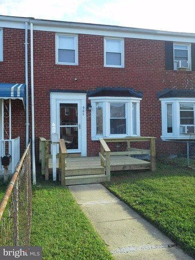 965 Middlesex Road, Baltimore, MD 21221 - MLS#: 1008343466