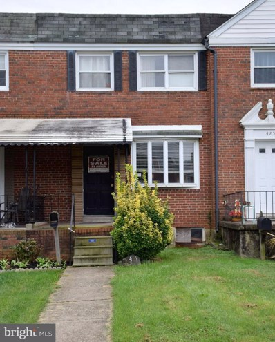 423 Westfield Road, Baltimore, MD 21222 - #: 1009716524