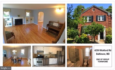 4239 Wickford Road, Baltimore, MD 21210 - MLS#: 1009925104