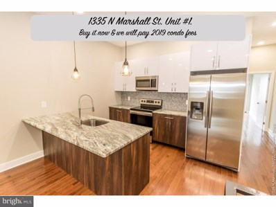 1335 N Marshall Street UNIT 1, Philadelphia, PA 19122 - MLS#: 1009999444