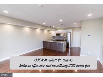 1335 N Marshall Street UNIT 2, Philadelphia, PA 19122 - MLS#: 1009999462