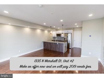 1335 N Marshall Street UNIT 2, Philadelphia, PA 19122 - MLS#: 1009999462