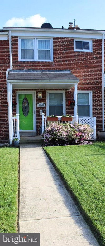 4240 Elsa Terrace, Baltimore, MD 21211 - MLS#: MDBA100566