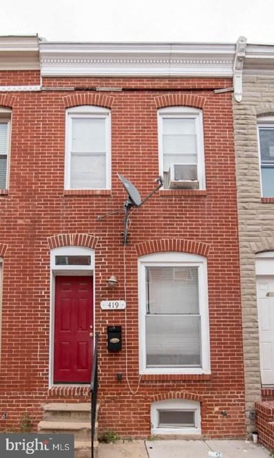 419 N Bradford Street, Baltimore, MD 21224 - #: MDBA2011282