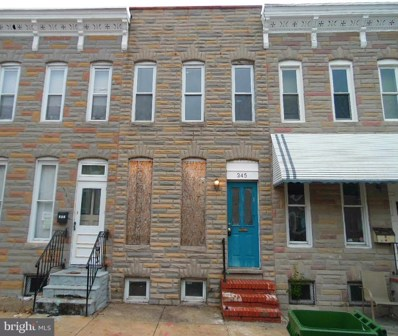 345 S Woodyear Street, Baltimore, MD 21223 - #: MDBA262610