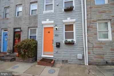 414 S Durham Street, Baltimore, MD 21231 - #: MDBA303470