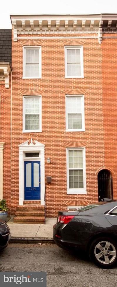 1244 William Street, Baltimore, MD 21230 - #: MDBA305490