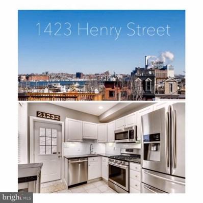 1423 Henry Street, Baltimore, MD 21230 - MLS#: MDBA305620