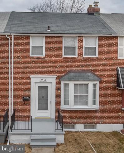 2036 E Belvedere Avenue, Baltimore, MD 21239 - #: MDBA437284