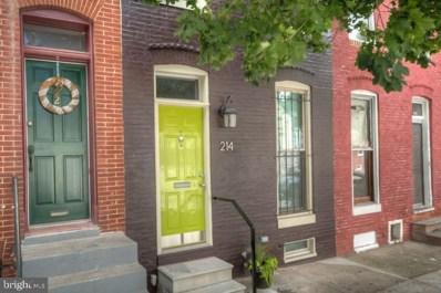 214 N Chester Street, Baltimore, MD 21231 - #: MDBA437870