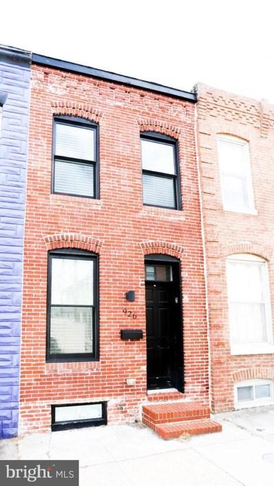 926 S Curley Street, Baltimore, MD 21224 - #: MDBA462044