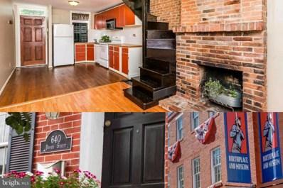 640 Dover Street, Baltimore, MD 21230 - #: MDBA463098