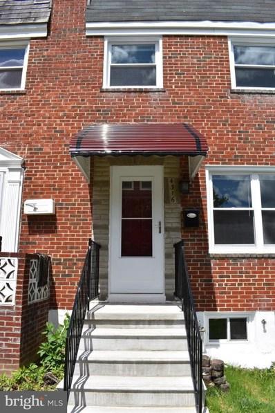 4316 Greenhill Avenue, Baltimore, MD 21206 - #: MDBA464566