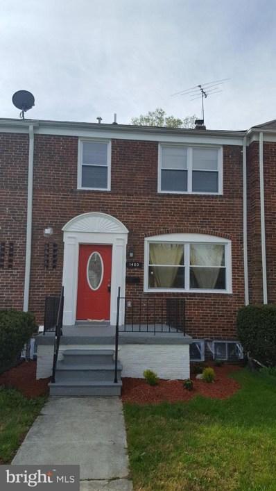 1403 Kingsway Road, Baltimore, MD 21218 - MLS#: MDBA464766