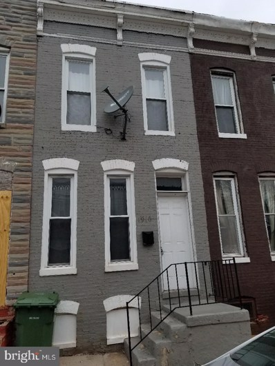1910 Christian Street, Baltimore, MD 21223 - #: MDBA465916