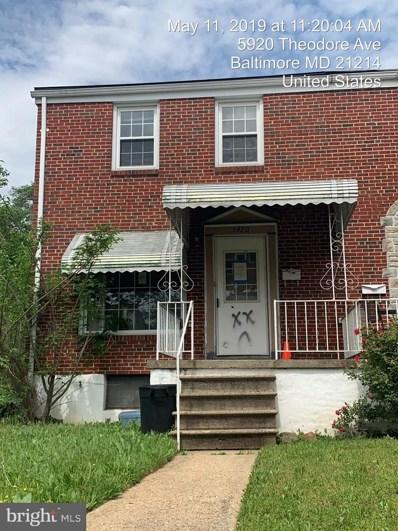5920 Theodore Avenue, Baltimore, MD 21214 - MLS#: MDBA469938