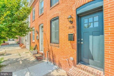3116 Elliott Street, Baltimore, MD 21224 - #: MDBA477298