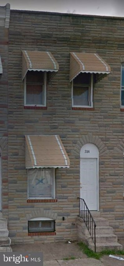314 S Calhoun Street, Baltimore, MD 21223 - #: MDBA480920