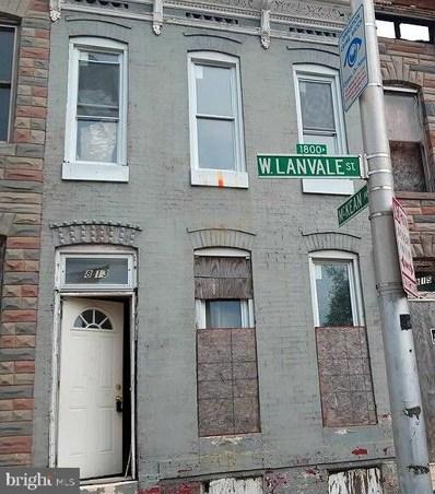 1813 W Lanvale Street, Baltimore, MD 21217 - #: MDBA483212