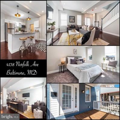 4138 Norfolk Avenue, Baltimore, MD 21216 - #: MDBA487406