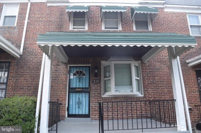 218 Mount Holly Street, Baltimore, MD 21229 - #: MDBA492698