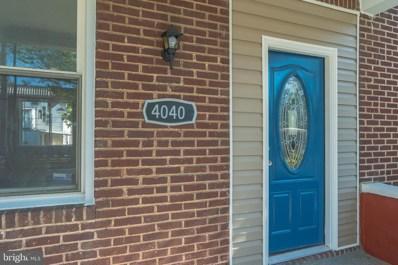 4040 W Cold Spring Lane, Baltimore, MD 21215 - #: MDBA513388