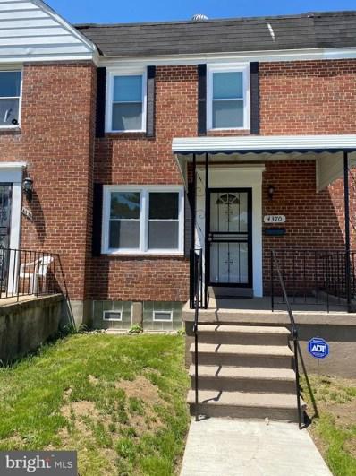 4370 Parkton Street, Baltimore, MD 21229 - #: MDBA513560