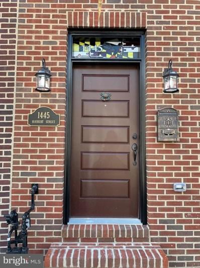 1445 Haubert Street, Baltimore, MD 21230 - #: MDBA515590