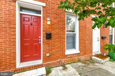 47 E Heath Street, Baltimore, MD 21230 - #: MDBA516282